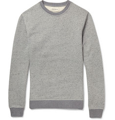 Oliver Spencer Marled Cotton-Blend Sweatshirt