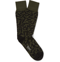 Paul Smith Shoes & Accessories Jungle Camo Cotton-Blend Socks