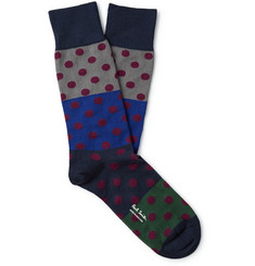 Paul Smith Shoes & Accessories Patterned Stretch Cotton-Blend Socks