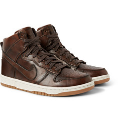 Nike NikeLab Dunk High SP Burnished Leather Sneakers