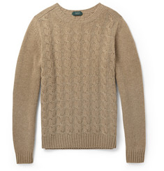Incotex Cable-Knit Wool Sweater
