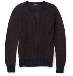 Incotex Bi-Colour Wool Sweater