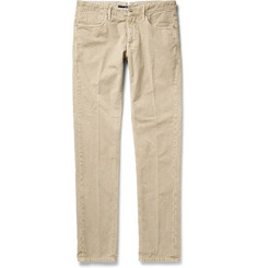 Incotex Slim-Fit Cotton-Corduroy Trousers