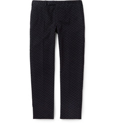 Incotex Slim-Fit Printed Moleskin Trousers