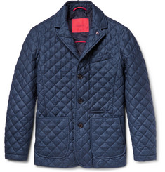 Isaia Quilted Wool, Cotton and Cashmere-Blend Jacket