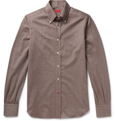 Isaia Slim-Fit Cotton-Flannel Shirt