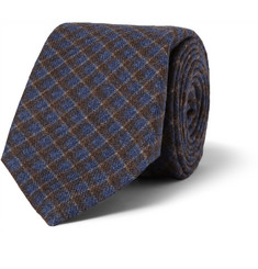 Isaia Check Wool Tie