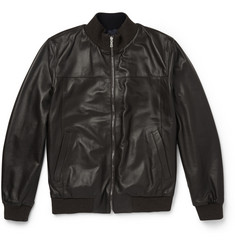 Isaia Reversible Leather Jacket