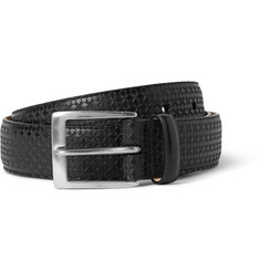 Paul Smith Shoes & Accessories Black 3cm Embossed Leather Belt