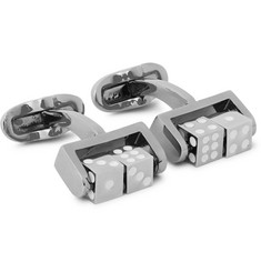 Paul Smith Shoes & Accessories Spinning Dice Gunmetal-Tone Cufflinks