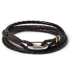 Paul Smith Shoes & Accessories Woven Leather Wrap Bracelet