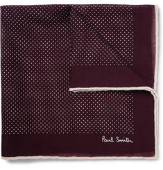Paul Smith Shoes & Accessories - Polka-Dot Wool and Silk-Blend Pocket Square