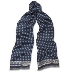 Paul Smith Shoes & Accessories Double-Sided Silk-Twill and Wool Scarf