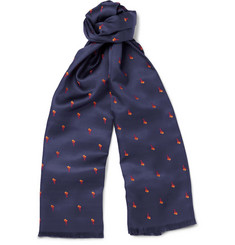 Paul Smith Shoes & Accessories Palm Tree Embroidered Scarf