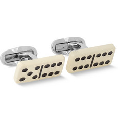 Paul Smith Shoes & Accessories Domino Enamelled Brass Cufflinks