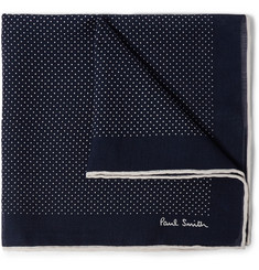 Paul Smith Shoes & Accessories Polka-Dot Wool and Silk-Blend Pocket Square