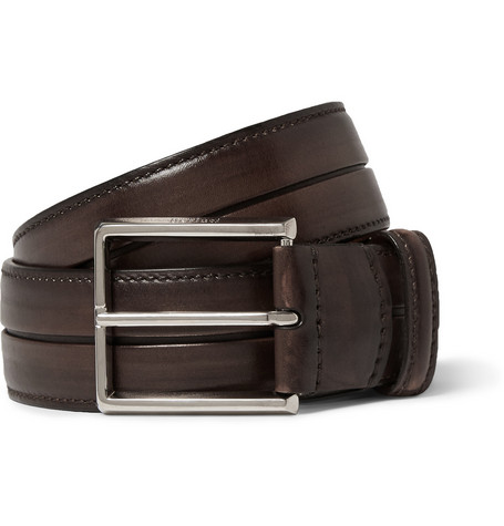 berluti male 211468 berluti brown 35cm gaspard leather belt brown