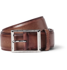 Berluti Brown 3.5cm Leather Belt