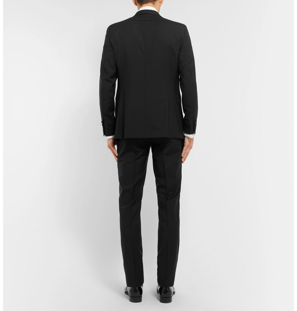 Hackett Black Satin-Trimmed Wool and Mohair-Blend Tuxedo