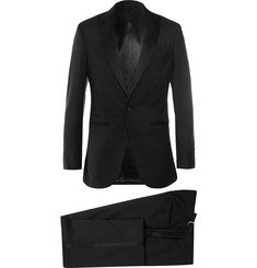 Hackett - Black Satin-Trimmed Wool and Mohair-Blend Tuxedo