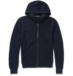 Rag & bone Knitted Cotton-Blend Hoodie