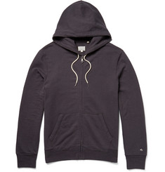 Rag & bone Zip-Through Cotton-Jersey Hoodie