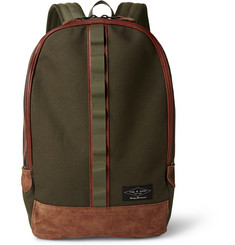 Rag & bone Derby Cotton-Canvas and Suede Backpack