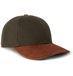 Rag & bone Suede-Brim Cotton-Canvas Baseball Cap