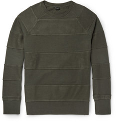 PS by Paul Smith Panelled Cotton-Blend Sweatshirt