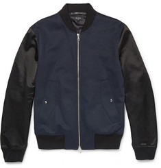 PS by Paul Smith Panelled Wool-Blend Bomber Jacket