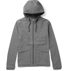 Folk Hooded Cotton-Blend Shell Jacket