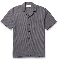 Folk Navy Cotton-Jacquard Shirt