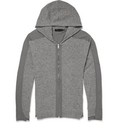Alexander McQueen Two-Tone Wool Zip-Up Hoodie