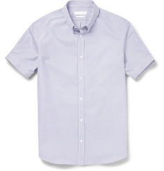 Alexander McQueen Slim-Fit Checked Cotton-Poplin Shirt