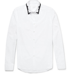 Alexander McQueen Beaded-Collar Cotton Shirt