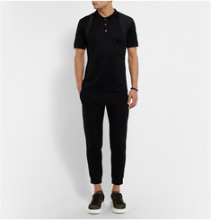 Alexander McQueen Slim-Fit Harness-Detailed Mercerised-Cotton Polo Shirt