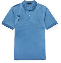 Alexander McQueen Slim-Fit Harness-Detailed Cotton and Silk-Blend Polo Shirt