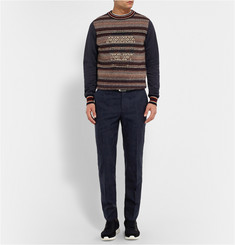 Alexander McQueen Slim-Fit Stretch-Cotton and Wool-Blend Jacquard Suit Trousers