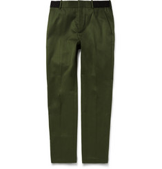 Alexander McQueen Slim-Fit Cotton Trousers