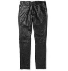 Givenchy Slim-Fit Leather Trousers