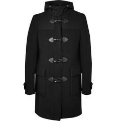 Givenchy Leather-Trimmed Wool Duffle Coat