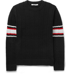 Givenchy Striped Cable-Knit Wool Sweater