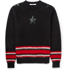 Givenchy Striped Mohair-Blend Sweater