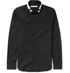Givenchy Slim-Fit Star-Trimmed Cotton Shirt
