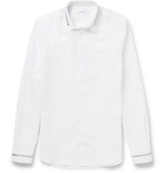 Givenchy Slim-Fit Zip-Trimmed Cotton Shirt