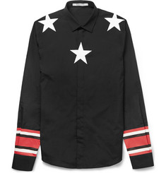 Givenchy Star and Stripe-Print Cotton Shirt