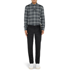 Givenchy Slim-Fit Printed Checked Cotton-Twill Shirt