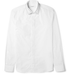 Givenchy Slim-Fit Studded-Collar Cotton Shirt