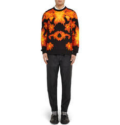 Givenchy Cuban-Fit Flame-Print Cotton-Jersey Sweatshirt