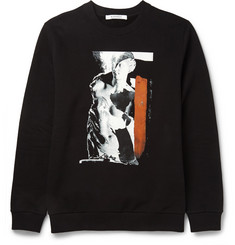 Givenchy Printed Fleece-Backed Cotton-Blend Jersey Sweatshirt